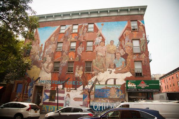 The Spirit of East Harlem mural Hank Prussing Manny Vega