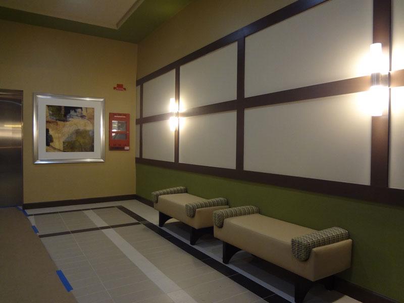 interior mec parcel c lobby area