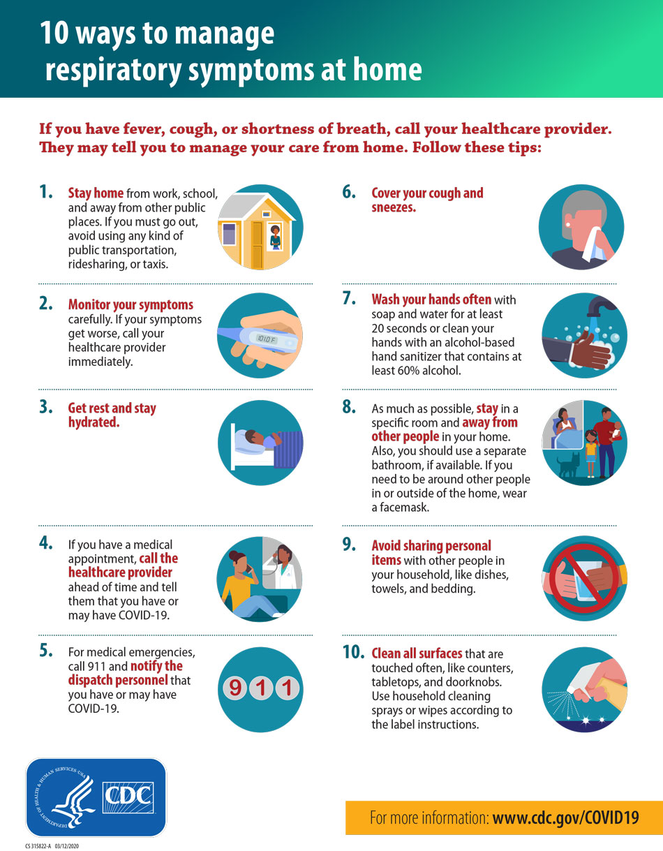 center for disease control 10 tips