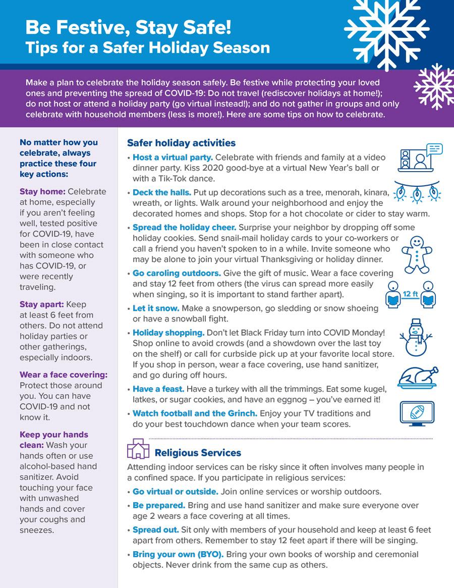 Holiday Season Tips Flyer English 2020